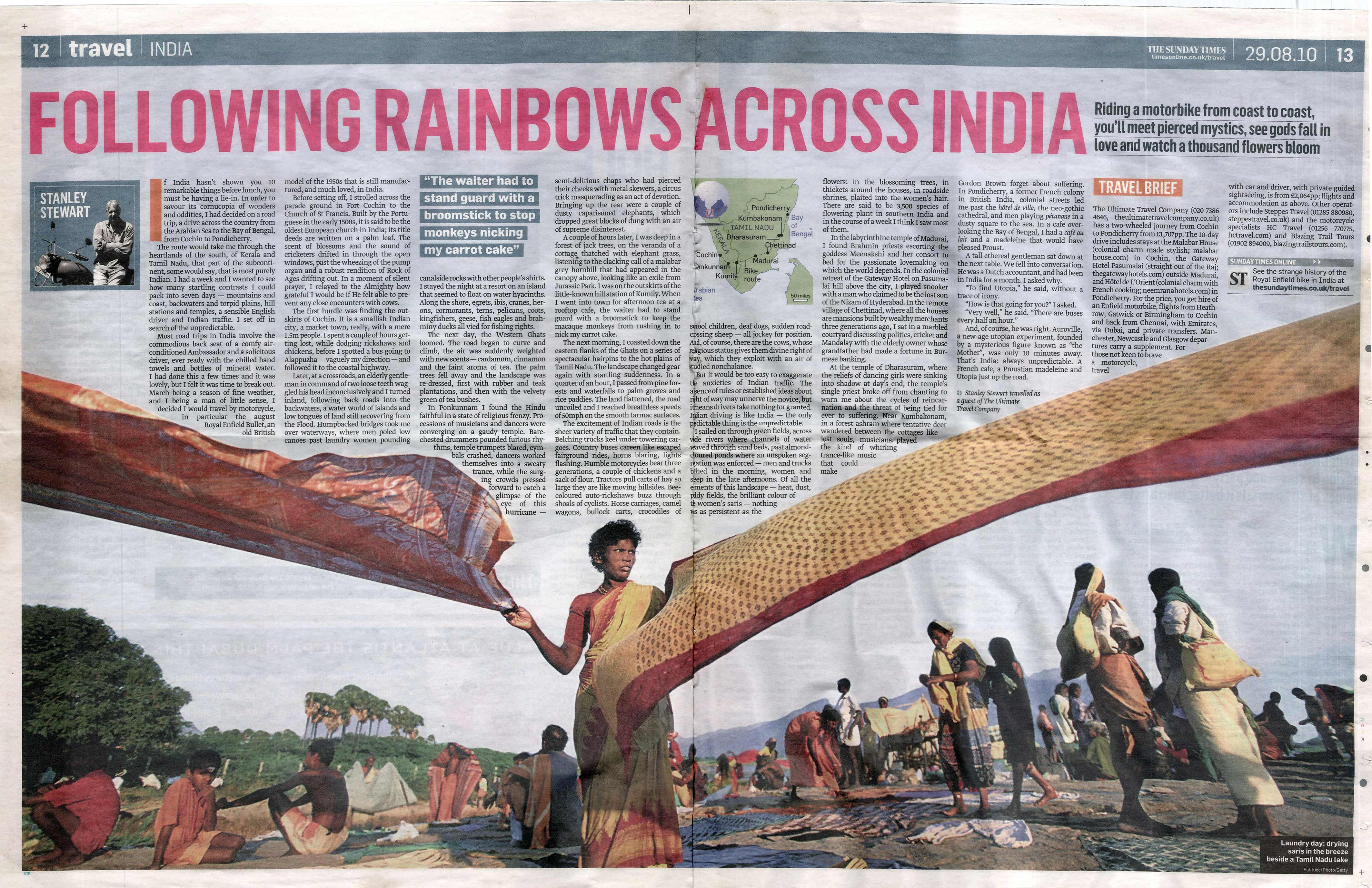 FOLLOWING RAINBOWS ACROSS INDIA